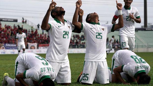 Timnas Indonesia U-23 bakal menghadapi Suriah U-23 di Stadion Wibawa Mukti, Cikarang, Kamis (16/11).