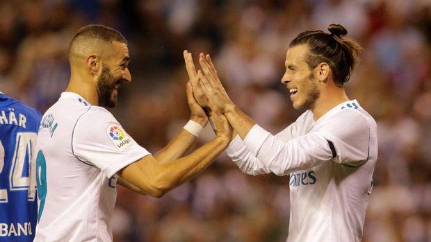 Zinedine Zidane berharap Gareth Bale (kanan) segera pulih total dan memperkuat lini depan. (