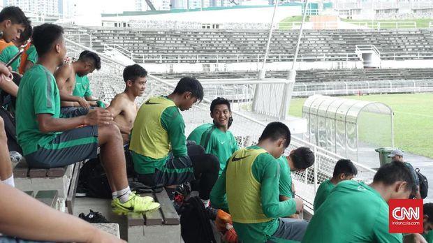 Timnas Indonesia U-23  menjalani latihan perdana jelang lawan Suriah U-23.