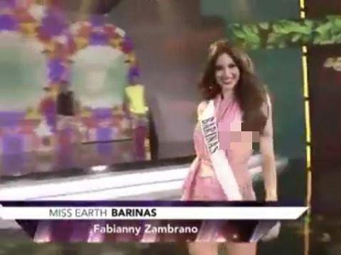 Malfungsi Busana, Payudara Finalis Ratu Kecantikan Ini Terekspos Saat Live Show