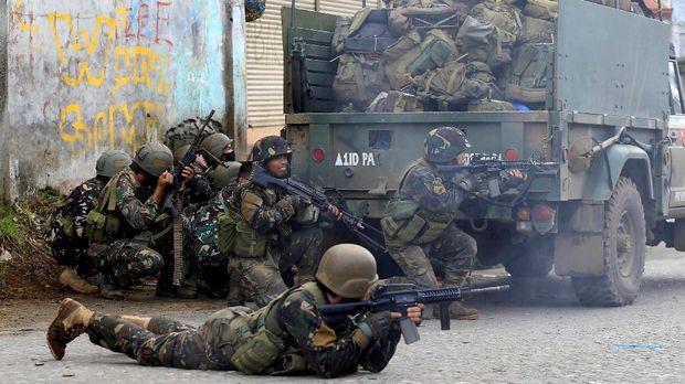 Pertempuran berlangsung di Marawi sejak 23 Mei lalu.