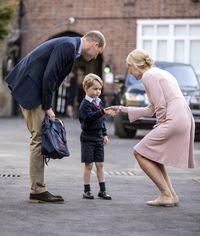 Hari pertama sekolah Prince George.