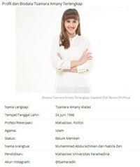 Tsamara Amany Jelaskan Status Pernikahannya yang Viral