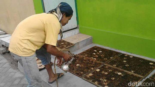 Bisnis kerajinan batok kelapa di Blitar