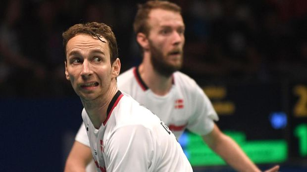 Mathias Boe/Carsten Mogensen mengalahkan Mohammad Ahsan/Rian Agung Saputro pada semifinal China Open 2017.
