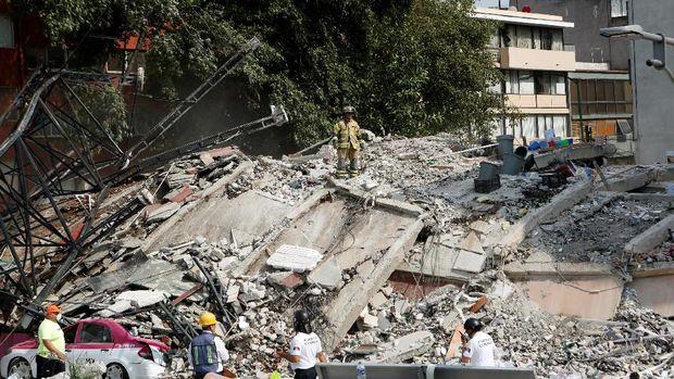 Kerusakan akibat gempa Meksiko /