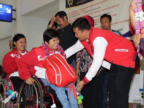 Sandang Predikat Juara Umum, Kontingan ASEAN Para Games 2017 Tiba di Tanah Air