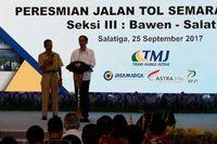 Resmikan Tol Bawen-Salatiga yang Indah, Jokowi Jajal Pakai e-Toll