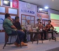 Menyongsong penyelenggaraan IKF VI, BCA mengadakan Talkshow Kafe BCA yang membahas perkembangan ekonomi digital di Indonesia dengan menghadirkan sejumlah narasumber mumpuni (Foto: BCA)