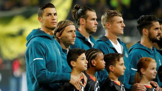 Lima pemain Real Madrid menghuni tim terbaik FIFA 2017.
