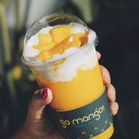Selain King Mango Thai, Go Mango juga punya minuman mangga enak dengan harga lebih murah.