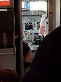 Bir yang terlihat di kokpit Jet2 tepat disebelah pilot.