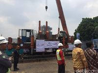 Dua Menteri Resmikan Pembangunan Rusun Nempel Stasiun Pondok Cina