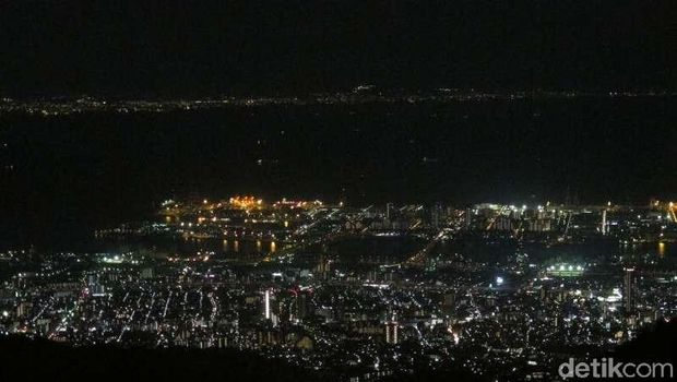 Pemandangan dari atas Rokko Shidare Observatory