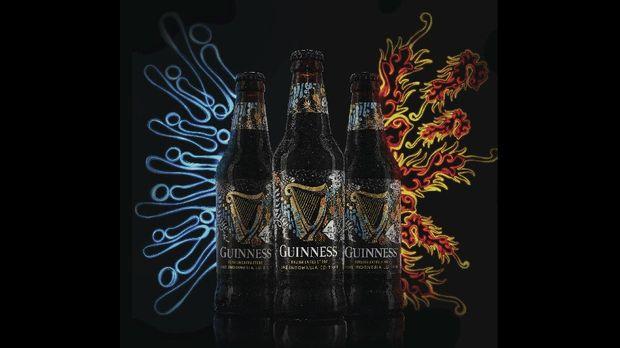 Kemasan batik Guinness.