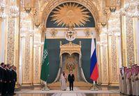 Raja Salman dan Vladimir Putin.