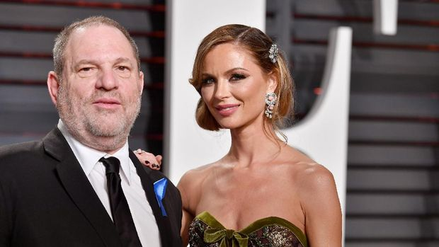 Harvey Weinstein dan istrinya, Georgina Chapman.