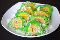 Kue pisang tradisional ini bernama mata roda.