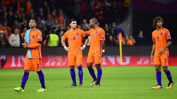 Timnas Belanda dua kali beruntun gagal lolos ke turnamen besar.