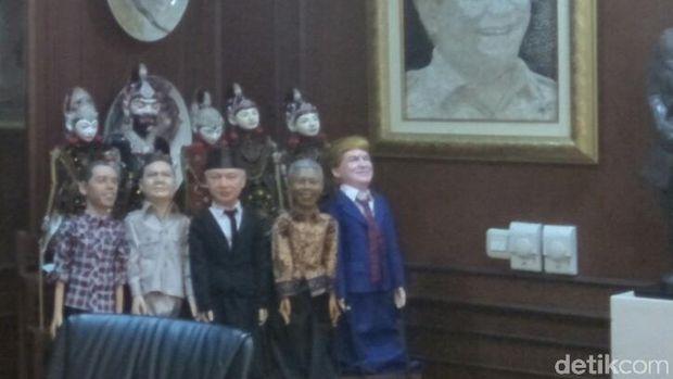5 Wayang Potret di Ruang Fadli Zon: Dari Jokowi, Prabowo dan Trump