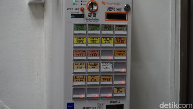 Vending machine untuk memesan ramen (Wahyu/detikTravel)