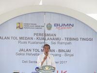 Jokowi Resmikan 52 Km Jalan Tol Baru di Medan