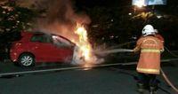 Mobil Milik Pria yang Berkelahi dengan TNI Terbakar, Benarkah?