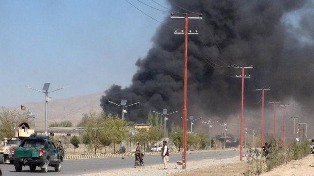 Ilustrasi serangan teror di Afghanistan.