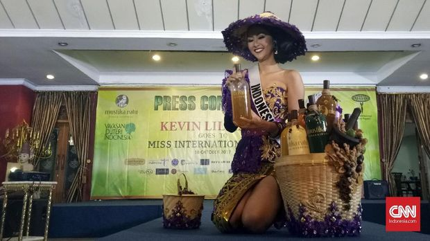 Kevin Liliana akan memakai kostum nasional bergaya mbok jamu