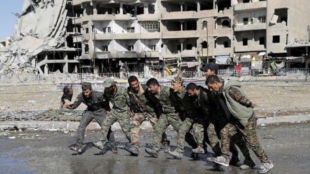 Ilustrasi pasukan Kurdi.