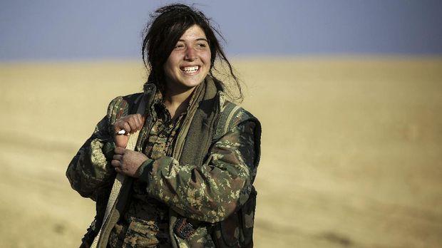 Ilustrasi pasukan Kurdi di Suriah.