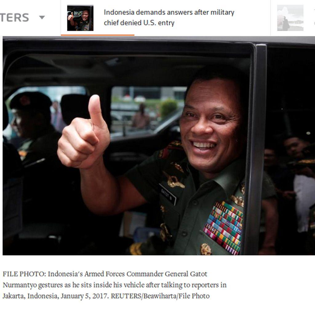 Tolak Panglima TNI Masuk AS Termasuk Menghina Indonesia?