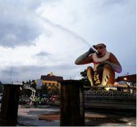 Patung Bekantan, Banjarmasin (Foto: detikTravel)