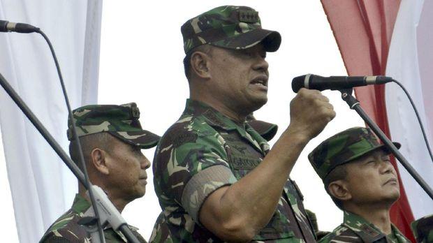 Panglima Jenderal Gatot menyebut Indonesia rentan serangan bioterorisme.