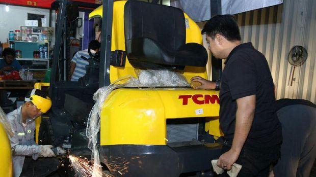 Penampakan Forklift Berisi 100 Kg Sabu di Tangerang