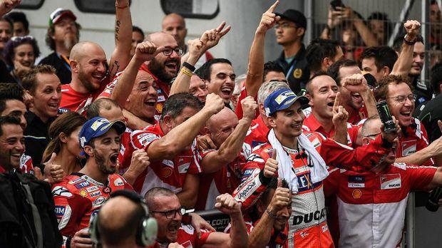 Jorge Lorenzo merasakan dukungan kuat dari tim selama berada di Ducati.
