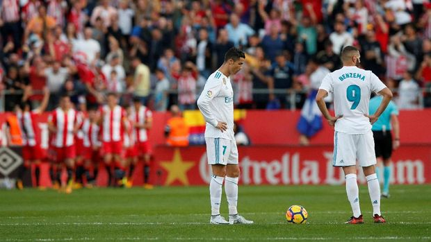 Cristiano Ronaldo dan Karim Benzema sama-sama kering gol di musim 2017/2018.