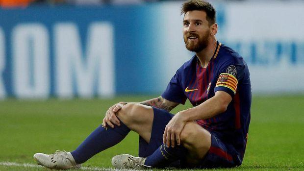 Lionel Messi menjalani debut di Barcelona pada 2003. (