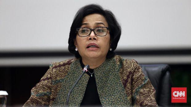 Menteri Keuangan Sri Mulyani, di Kementerian Keuangan, Jakarta, Kamis (2/11).
