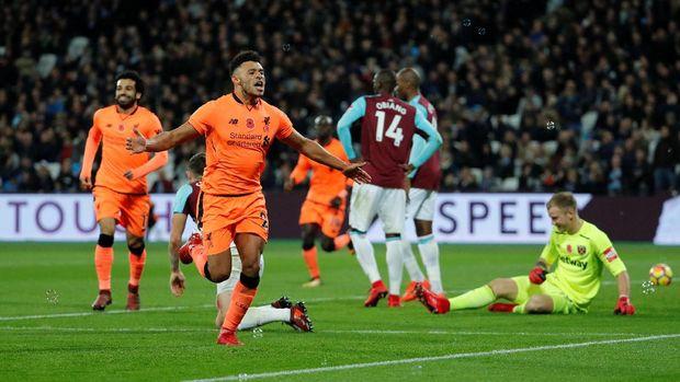 West Ham United terakhir dikalahkan Liverpool 1-4.