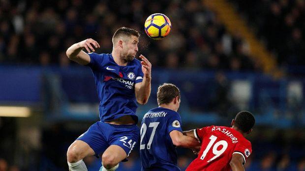 Manchester United kesulitan memberikan ancaman ke lini pertahanan Chelsea.
