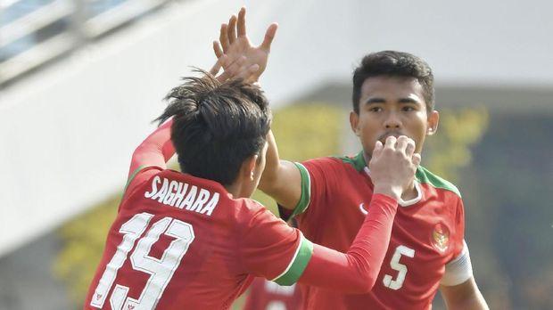 Timnas Indonesia U-19 hanya mampu mencetak satu gol ke gawang Malaysia melalui Hanis Saghara.