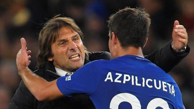 Antonio Conte gembira Chelsea bisa mengalahkan Manchester United.