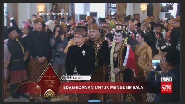 Jokowi antar Kahiyang-Bobby ke pelaminan.