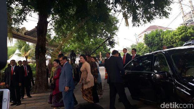 Megawati tiba di lokasi pernikahan Kahiyang