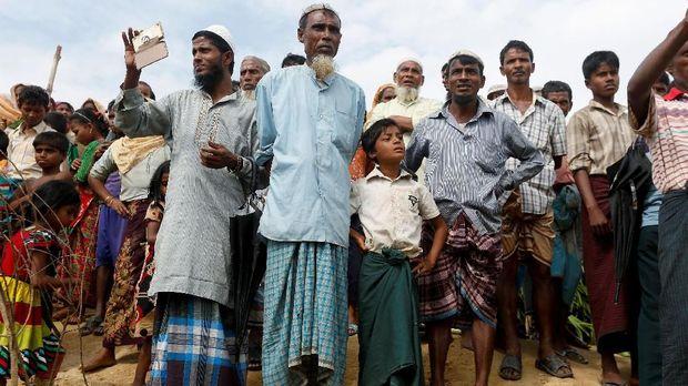 Ilustrasi pengungsi Rohingya.