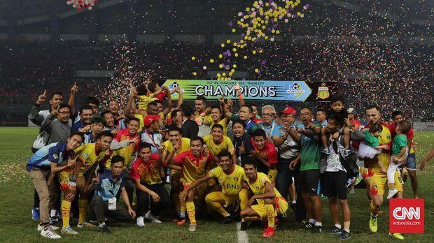 Bhayangkara FC resmi menjadi juara Liga 1 2017.