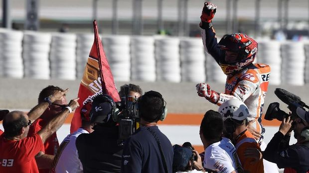 Marc Marquez keluar sebagai juara dunia MotoGP 2017. (