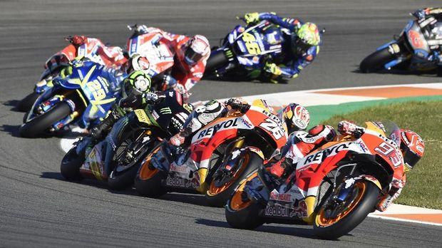 Marc Marquez finis ketiga pada balapan MotoGP Valencia.