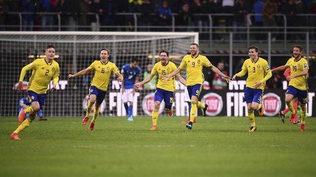 Timnas Italia disingkirkan Swedia di babak playoff Piala Dunia 2018.